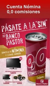 Cuenta Nómina SIN de Banco Pastor