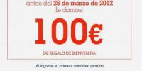 100 euros cuenta nomina ING direct