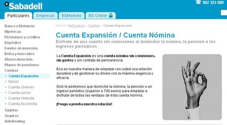 Cuenta Expansión de Banco Sabadell Atlántico.